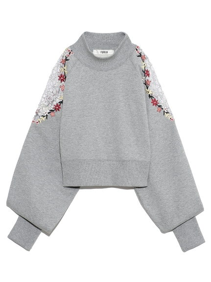 花刺繍スウェット