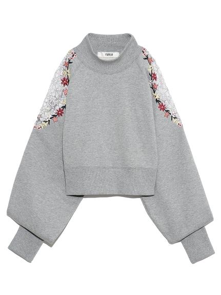 花刺繍スウェット(GRY-F)