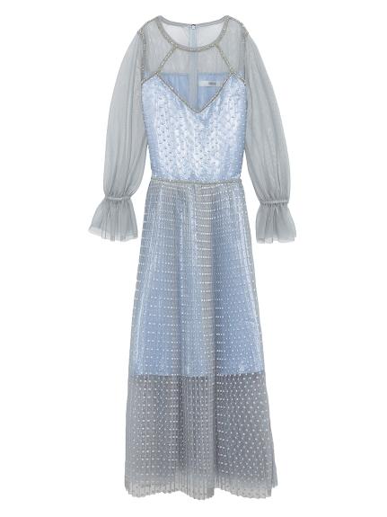 ドット刺繍ドレス
