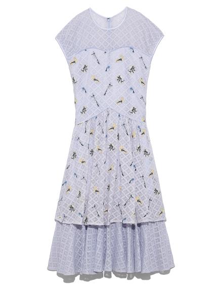ブーケオンレースドレス