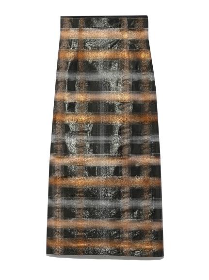 ラメジャガードタイトスカート
