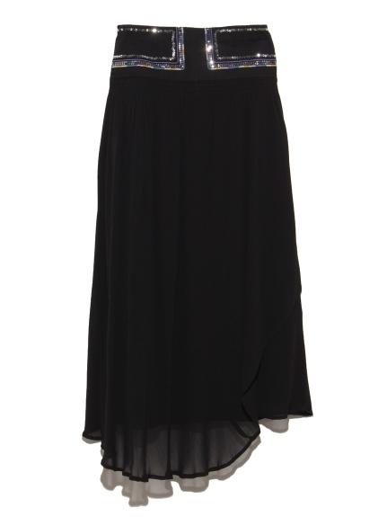 ベルト刺繍スカート
