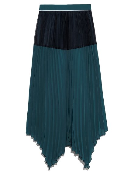 パイピングプリーツスカート