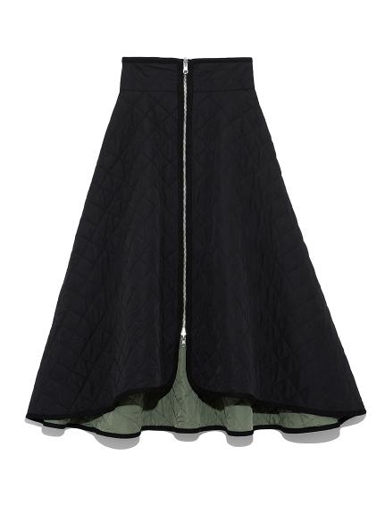 キルティングフレアスカート
