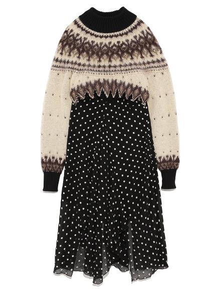 ノルディックセータードレス(BEG-F)