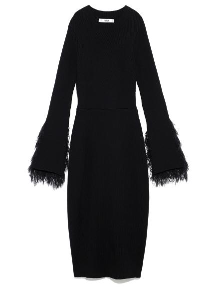 エルボパッチニットドレス