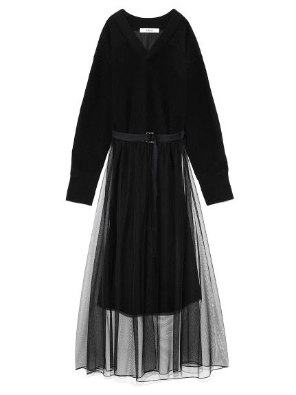 チュールスカート付きコマンドドレス(BLK-F)