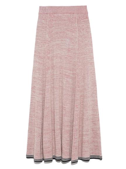 ミックスカラーニットスカート