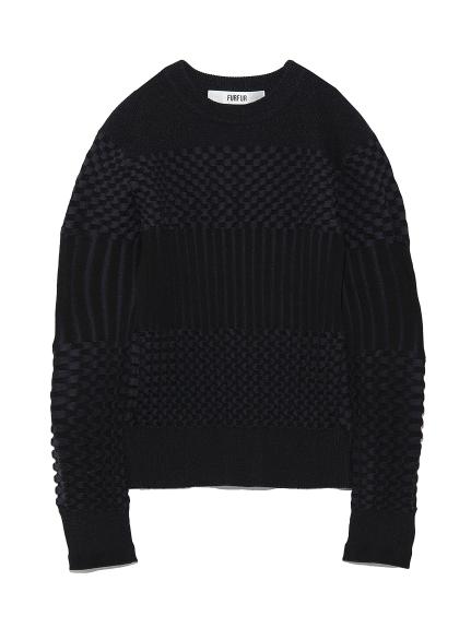 リンクス編みセーター(BLK-F)