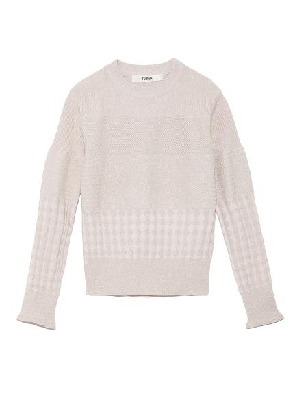 ラメリンクス編みセーター