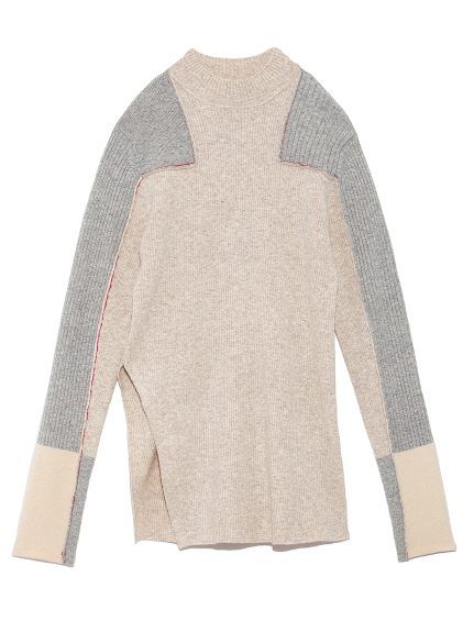 パッチワークセーター