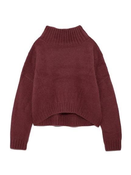 オーバーサイズタートルセーター