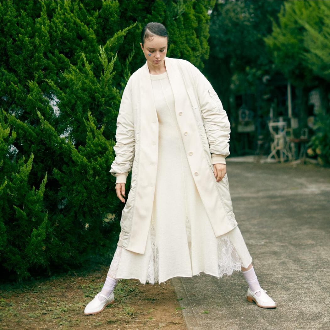 Dress 23,000 yen+tax,Coat 36,000 yen+tax, Shoes 24,000 yen+tax