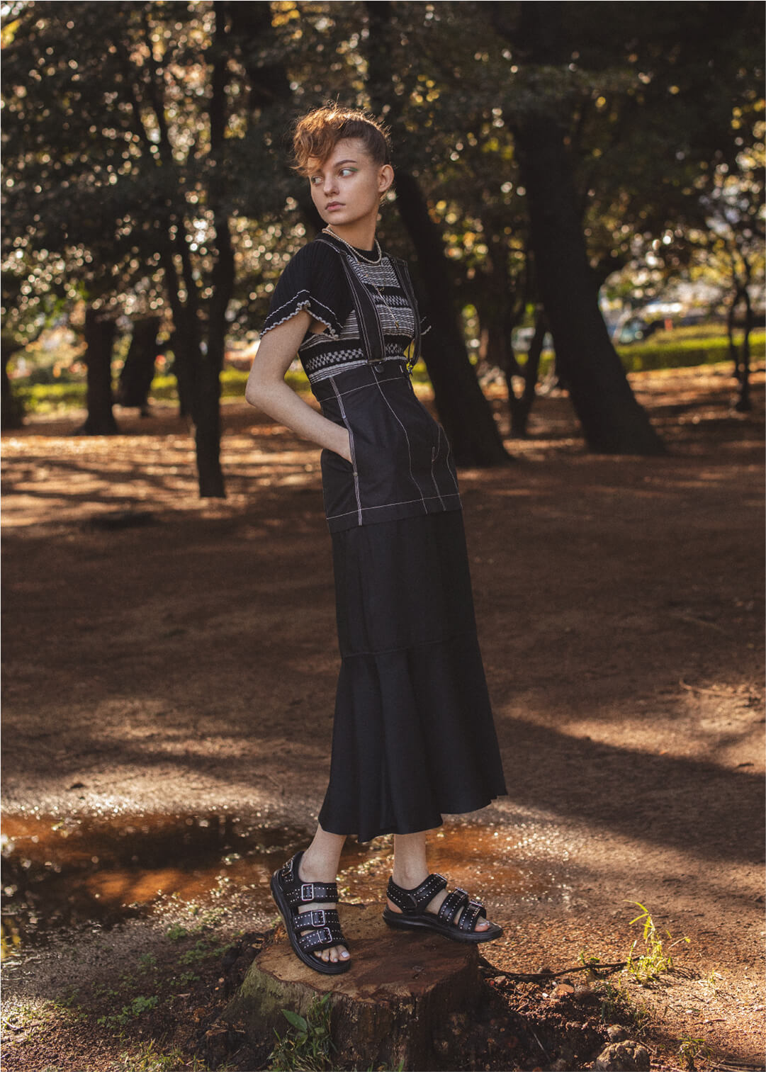 2way Skirt With Shoulder Strap