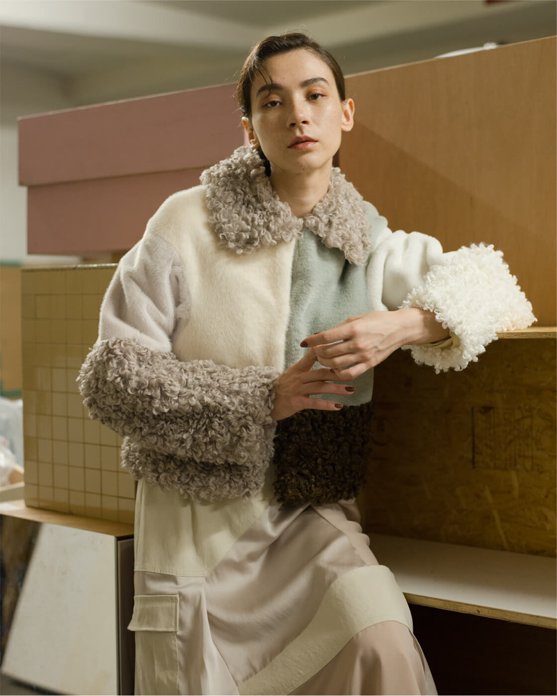 Eco Fur Mixed Blouson