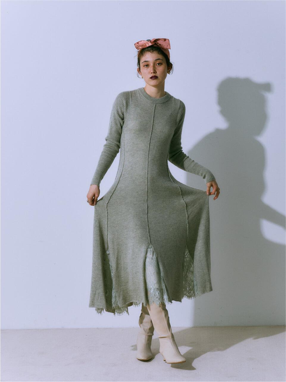 Lace Hem Lib Dress