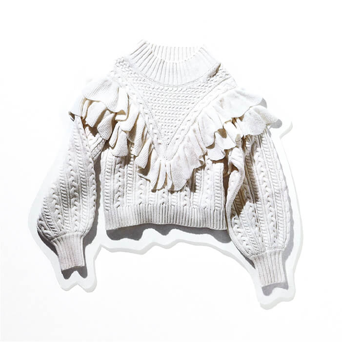 FRILL CABLE KNIT