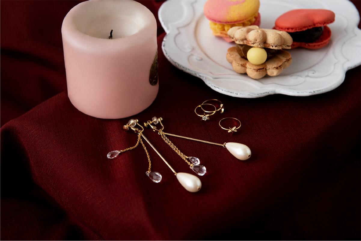 Chandelier Earrings & Star Rings
