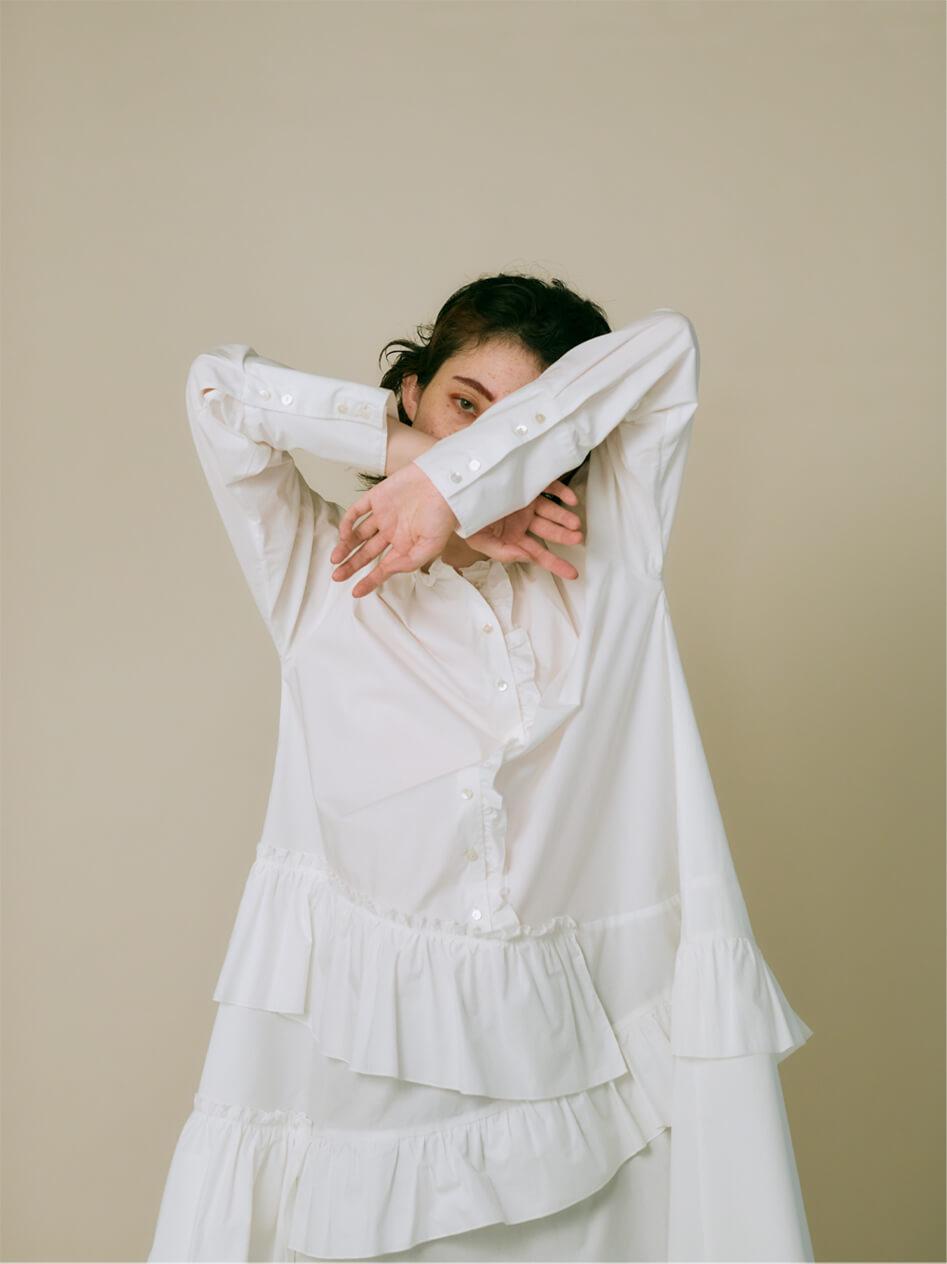 FRILL SHIRT DRESS
