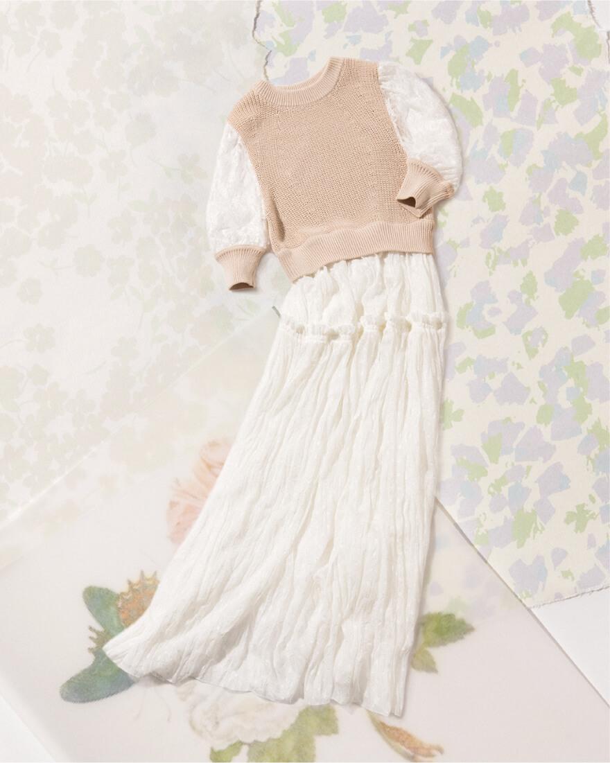 MIX KNIT DRESS
